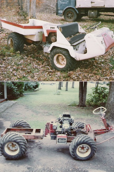 PUG Articulated ATV during restoration. This vehicle could ...